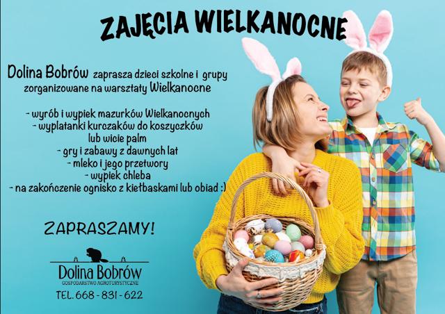 Zajęcia Wielkanocne dla dzieci Dolina Bobrów